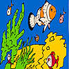 Fishes and sea sponges coloring Spiel