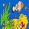 Fische und Meeresschwämme Färbung Spiel