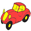 Erste rote Auto Färbung Spiel