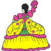 Flauschige Kleid Mädchen Färbung Spiel