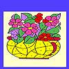Blumen in der Vase-Färbung Spiel