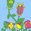 Blumen im Hof Färbung Spiel