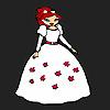 Blumenmädchen Braut Färbung Spiel