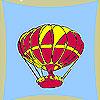 Fliegenden Ballon Färbung Spiel