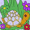 Lustige Schildkröte Färbung Spiel