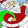 Lustige Santa Färbung Spiel