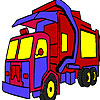 Garbage truck coloring Spiel