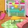 Mädchen-Wohnheim Zimmerdekoration Spiel