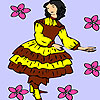 Mädchen Blumen färben Abholung Spiel