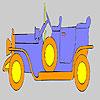 Gold altes Auto Färbung Spiel