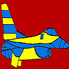 Great blue airplane coloring Spiel