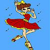 Historic dance contest coloring Spiel