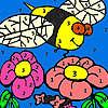 Hungrige Bienen im Garten Färbung Spiel