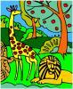 Dschungel Färbung Spiel
