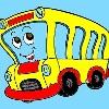 Kinder Färbung Bus Spiel