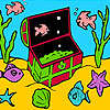 Kleine Fische im Feld Färbung Spiel