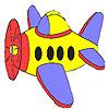 Kleines Flugzeug Färbung Spiel