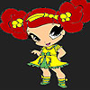 Kleine lustige Mädchen Färbung Spiel