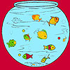 Little fishes in the aquarium coloring Spiel