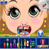 Kleines Mädchen beim Zahnarzt Spiel