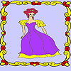 Lonely princess in the palace coloring Spiel