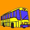 Lange Straße Bus Färbung Spiel