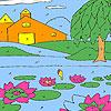 Lotus Garten Färbung Spiel