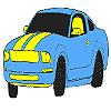 Herrliche blaues Auto Färbung Spiel