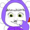 Masha Schnurrbart färben Spiel
