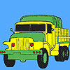 Military green trucks coloring Spiel