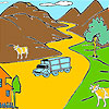 Mountain and cows coloring Spiel