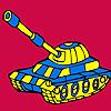 Modern military tank car coloring Spiel
