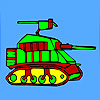 Moderne Militärpanzer Färbung Spiel