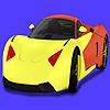 Modernes Konzept Auto Färbung Spiel