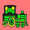 Modern locomotive car coloring Spiel