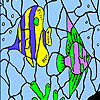 Oceanic fishes coloring Spiel