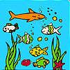Ocean Aquarium Färbung Spiel