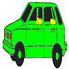Old green car coloring Spiel