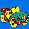 Open top jeep coloring Spiel