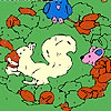 Eule und Freunde Färbung Spiel