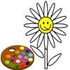 Malen Sie mir Blume Spiel