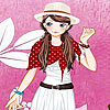 Pink garden girl dress up Spiel