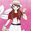 Rosa Garten Mädchen verkleiden sich Spiel