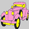 Pink historic car coloring Spiel