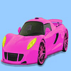 Rosa wunderschöne Auto Färbung Spiel