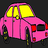 Rosa Stadt Taxi Färbung Spiel
