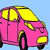 Rosa persönlicher Auto Färbung Spiel