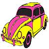 Rosa Schildkröte Auto Färbung Spiel