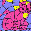Pink house cat coloring Spiel