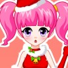 Hübsches Mädchen schöne Weihnachten Spiel